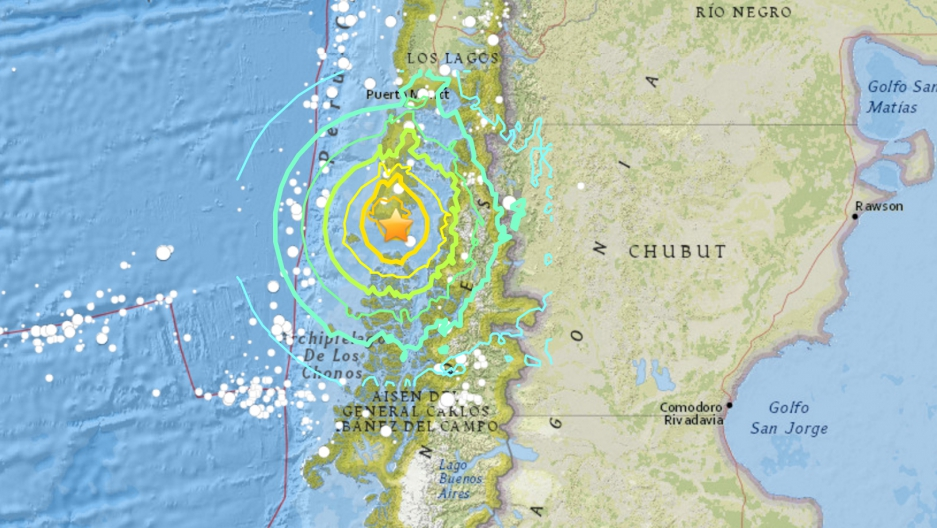 earthquake on Christmas in Chile